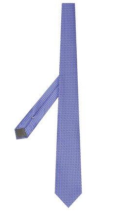 Мужской шелковый галстук CANALI синего цвета, арт. 18/HJ02300   Фото 2