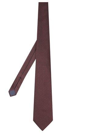Мужской шелковый галстук ERMENEGILDO ZEGNA бордового цвета, арт. Z6F01/1US | Фото 2