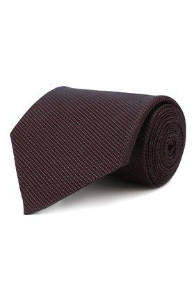Мужской шелковый галстук ERMENEGILDO ZEGNA бордового цвета, арт. Z6E15/1UM | Фото 1