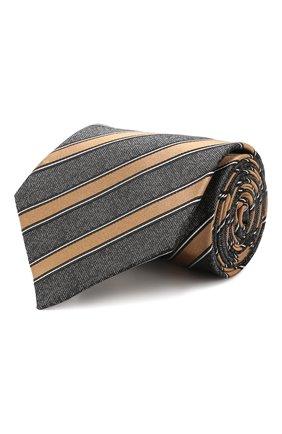 Мужской шелковый галстук ERMENEGILDO ZEGNA светло-коричневого цвета, арт. Z6E05/1UM | Фото 1
