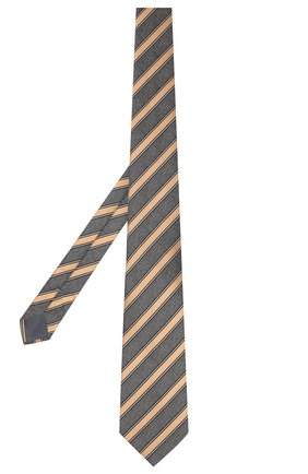Мужской шелковый галстук ERMENEGILDO ZEGNA светло-коричневого цвета, арт. Z6E05/1UM | Фото 2