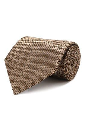 Мужской шелковый галстук ERMENEGILDO ZEGNA бежевого цвета, арт. Z6E05/1UM | Фото 1