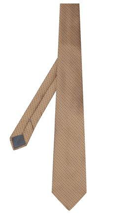 Мужской шелковый галстук ERMENEGILDO ZEGNA бежевого цвета, арт. Z6E05/1UM | Фото 2