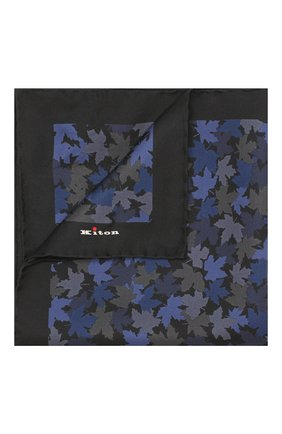 Мужской шелковый платок KITON темно-синего цвета, арт. UP0CHCX02S55 | Фото 1