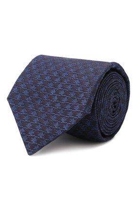 Мужской шелковый галстук KITON темно-синего цвета, арт. UCRVKLC09F59 | Фото 1