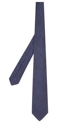 Мужской шелковый галстук KITON темно-синего цвета, арт. UCRVKLC09F59 | Фото 2