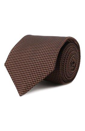 Мужской шелковый галстук KITON коричневого цвета, арт. UCRVKLC09F57 | Фото 1