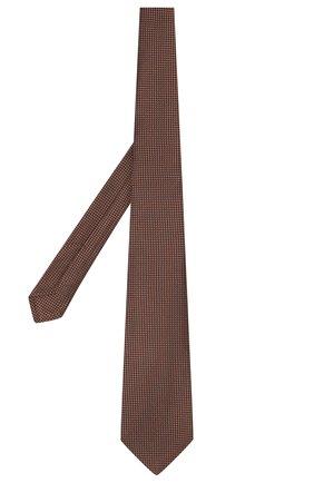 Мужской шелковый галстук KITON коричневого цвета, арт. UCRVKLC09F57 | Фото 2