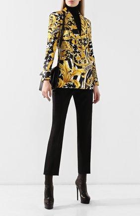 Женские кожаные ботильоны flora CASADEI черного цвета, арт. 1R627L1401T00539000 | Фото 2