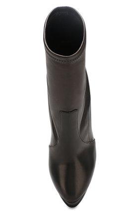 Женские кожаные ботильоны flora CASADEI черного цвета, арт. 1R627L1401T00539000   Фото 5