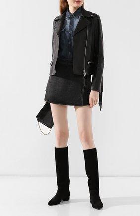 Женские замшевые сапоги CASADEI черного цвета, арт. 1S691L0201CAM0S9000 | Фото 2