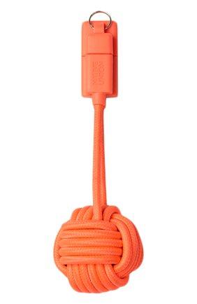 Мужской брелок с зарядным кабелем key cable NATIVE UNION оранжевого цвета, арт. KEY-L-COR | Фото 2