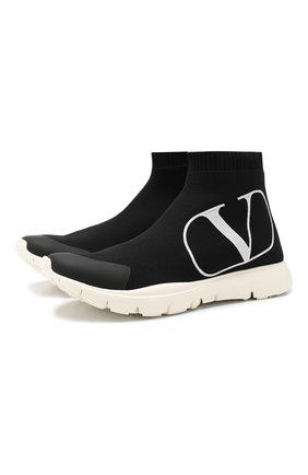 Текстильные кроссовки Valentino Garavani Go Logo | Фото №1