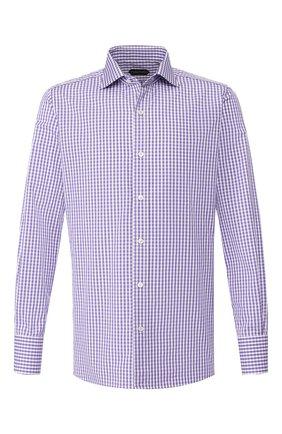 Мужская хлопковая сорочка TOM FORD фиолетового цвета, арт. 6FT647/94S1AX | Фото 1