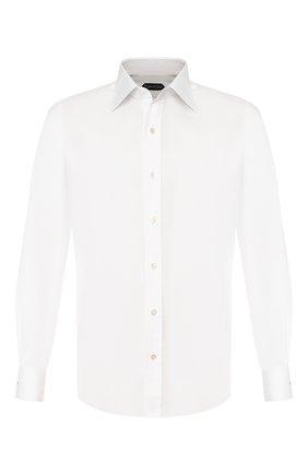 Мужская хлопковая сорочка TOM FORD белого цвета, арт. 6FT190/94S2JE | Фото 1