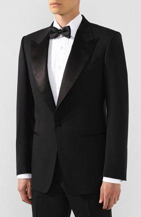 Мужской шерстяной смокинг TOM FORD черного цвета, арт. 622R12/21RP48 | Фото 2