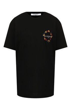 Женская хлопковая футболка GIVENCHY черного цвета, арт. BW70603Z2F | Фото 1
