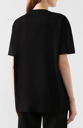 Женская хлопковая футболка GIVENCHY черного цвета, арт. BW70603Z2F | Фото 4