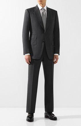 Мужской шерстяной костюм TOM FORD серого цвета, арт. 611R01/21AA43 | Фото 1
