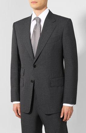 Мужской шерстяной костюм TOM FORD серого цвета, арт. 611R01/21AA43 | Фото 2