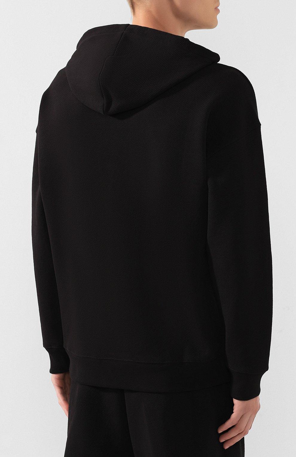 Мужской хлопковое худи GIVENCHY черного цвета, арт. BMJ02V30CR | Фото 4