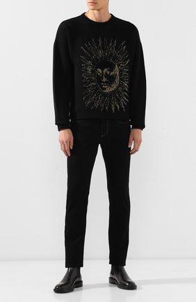 Мужской шерстяной пуловер GIVENCHY черного цвета, арт. BM909U4Y4H | Фото 2