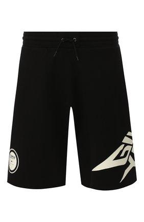 Мужские хлопковые шорты GIVENCHY черного цвета, арт. BM50D430CR | Фото 1