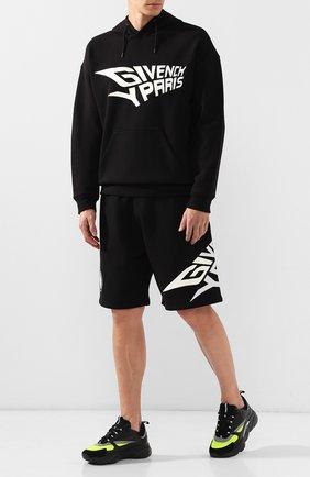 Мужские хлопковые шорты GIVENCHY черного цвета, арт. BM50D430CR | Фото 2