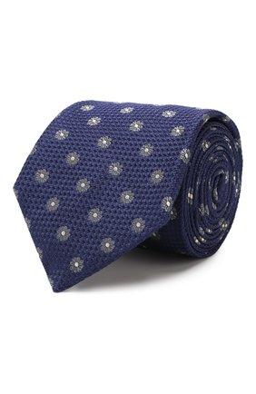 Мужской шелковый галстук CANALI темно-синего цвета, арт. 18/HJ02275   Фото 1