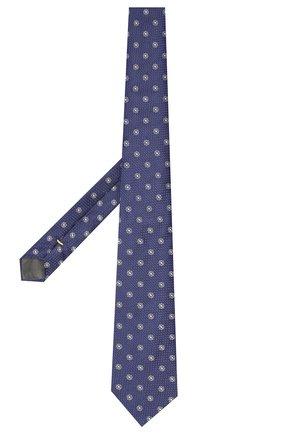 Мужской шелковый галстук CANALI темно-синего цвета, арт. 18/HJ02275   Фото 2