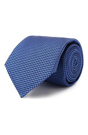 Мужской шелковый галстук KITON синего цвета, арт. UCRVKLC09F57 | Фото 1