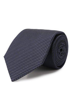 Мужской шелковый галстук KITON темно-синего цвета, арт. UCRVKLC09F57 | Фото 1