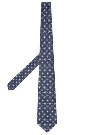 Мужской шелковый галстук KITON темно-синего цвета, арт. UCRVKLC09F27 | Фото 2