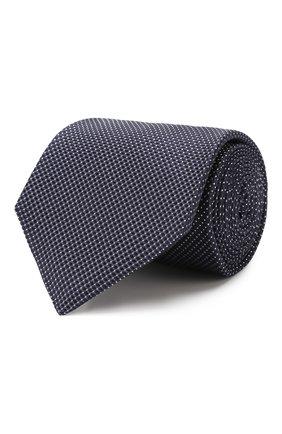 Мужской шелковый галстук KITON темно-синего цвета, арт. UCRVKLC08F73 | Фото 1