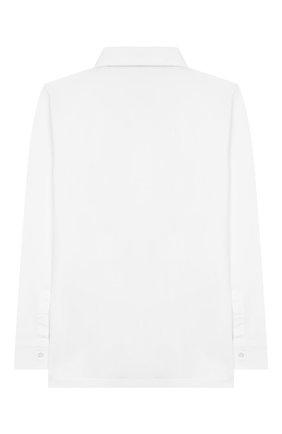 Детская хлопковая рубашка ALETTA белого цвета, арт. AM999470ML/9A-16A | Фото 2