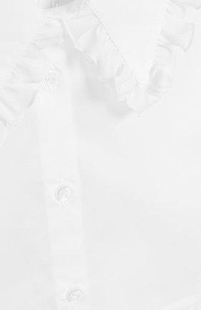 Детский хлопковая манишка ALETTA белого цвета, арт. A9333/4A-8A | Фото 3