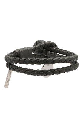 Женский браслет с плетением intrecciato BOTTEGA VENETA серого цвета, арт. 113546/V001D | Фото 2