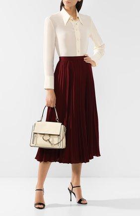 Женская сумка faye day small CHLOÉ белого цвета, арт. CHC17WS322HGJ | Фото 2