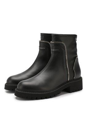 Женские кожаные ботинки GIUSEPPE ZANOTTI DESIGN черного цвета, арт. I970004/001 | Фото 1