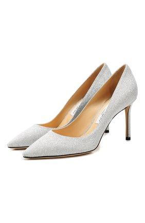 Женская туфли romy 85 JIMMY CHOO серебряного цвета, арт. R0MY 85/XGC | Фото 1