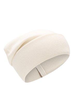 Женская кашемировая шапка BRUNELLO CUCINELLI бежевого цвета, арт. M12163199P   Фото 1