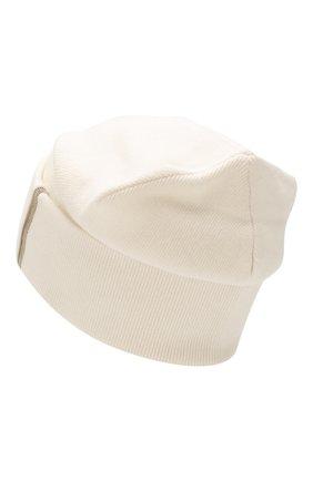 Женская кашемировая шапка BRUNELLO CUCINELLI бежевого цвета, арт. M12163199P   Фото 2