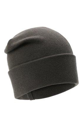 Женская кашемировая шапка BRUNELLO CUCINELLI серого цвета, арт. M12163199P   Фото 1