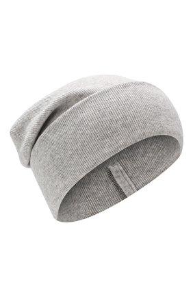 Женская кашемировая шапка BRUNELLO CUCINELLI светло-серого цвета, арт. M12163199P   Фото 1