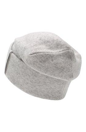 Женская кашемировая шапка BRUNELLO CUCINELLI светло-серого цвета, арт. M12163199P   Фото 2