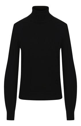 Женская кашемировая водолазка CHLOÉ черного цвета, арт. CHC19AMP24500 | Фото 1