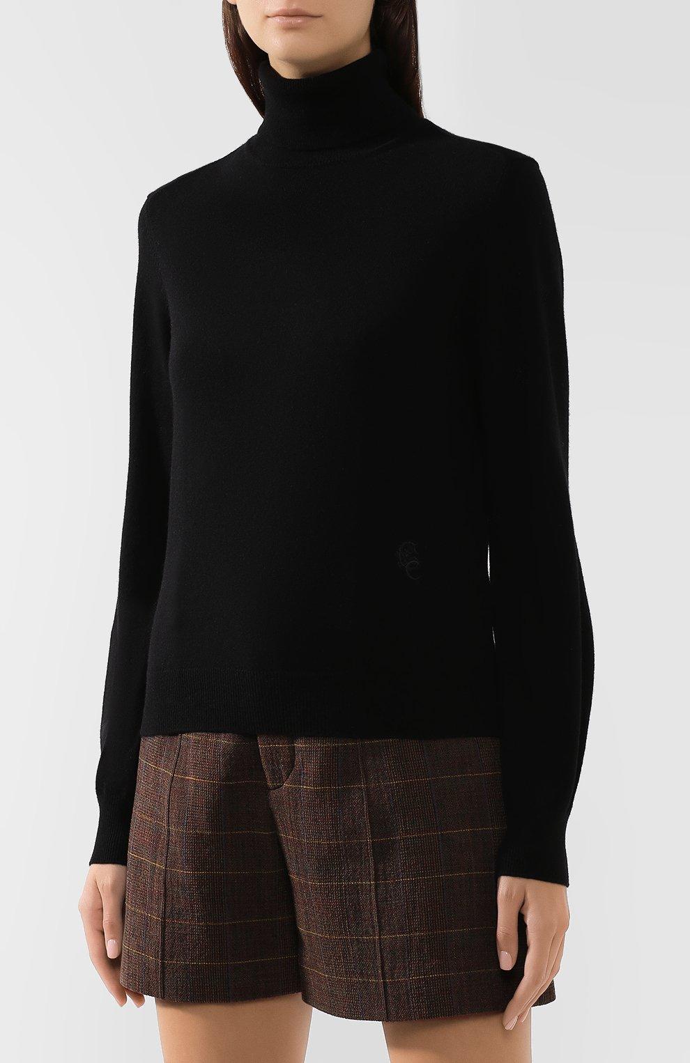 Женская кашемировая водолазка CHLOÉ черного цвета, арт. CHC19AMP24500 | Фото 3