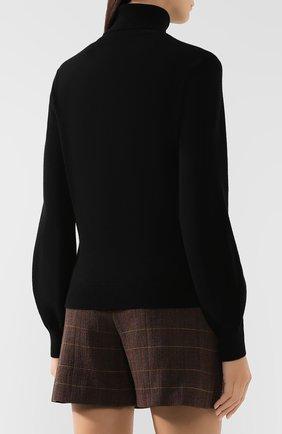 Женская кашемировая водолазка CHLOÉ черного цвета, арт. CHC19AMP24500 | Фото 4
