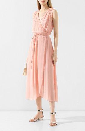 Женское шелковое платье FORTE_FORTE светло-розового цвета, арт. 6555 | Фото 2