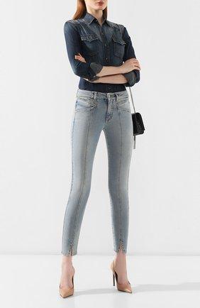 Женские джинсы GIVENCHY голубого цвета, арт. BW50EB50AG | Фото 2